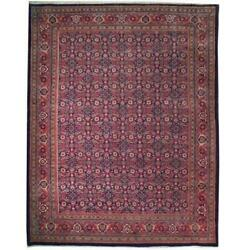 Fascinating 10x13 Hand Knotted Semi-antique Herati Rug B-71064