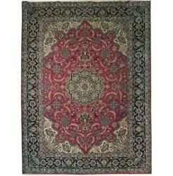 Fascinating 10x13 Authentic Hand Knotted Semi-antique Rug B-71102