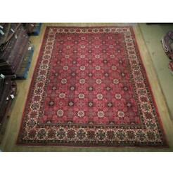 Stunning 10x13 Hand Knotted Semi-antique Varamin Wool Rug Red B-74846