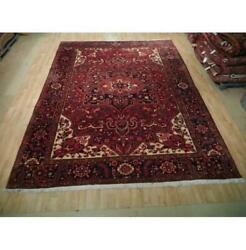 10x13 Authentic Hand Knotted Semi-antique Wool Rug Red B-73192