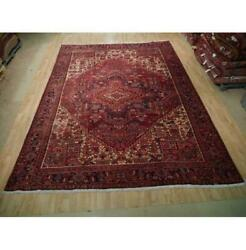 10x13 Authentic Hand Knotted Semi-antique Wool Rug Red B-73198