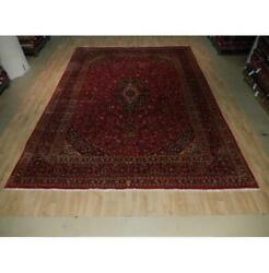 10x13 Authentic Hand Knotted Semi-antique Wool Rug Red B-73521