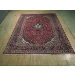 10x13 Authentic Hand Knotted Semi-antique Wool Rug Red B-74446
