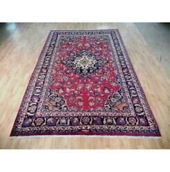 7x10 Authentic Hand Knotted Semi-antique Rug B-72120