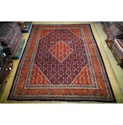 11x14 Authentic Hand Knotted Semi-antique Wool Rug Red B-74695