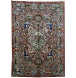 10x14 Authentic Hand-knotted Signed Kashmar Rug B-81220