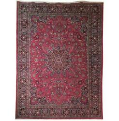 Fascinating 10x13 Authentic Hand Knotted Semi-antique Rug B-71093