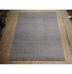 8x10 Simple Gray Loom Knotted Viscose Wool Blend Modern Rug B-74544