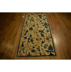 6x3 Hand Knotted Chinese Peking Art Deco Rug La-52162