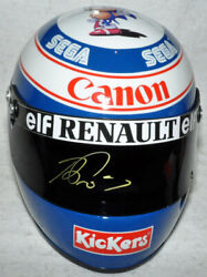 Alain Prost Signed Replica 1993 Williams F1 Full Scale Helmet With Photo Proof