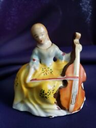 2 Occupied Japan Figurines Cello And Singer -japan Victorian Couple- Unmarked Boy