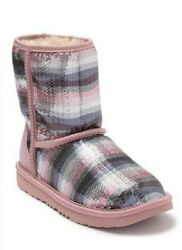 NEW IN BOX KIDS YOUTH UGG CLASSIC II SEQUIN RAINBOW 1103622K SIZE 12 3 4 5 $79.99