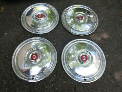 4 Oem 1955-1956 Ford Thunderbird New Wheel Cover Hubcaps B5a-1130-c