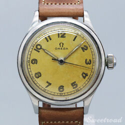 Omega 30mm Caliber Ref.2179 Cal.30t2sc 1944 Manual Hand Wind Auth Mens Watch