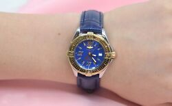 Breitling Chronometre 18k Yellow Gold And Ss Watch W/date
