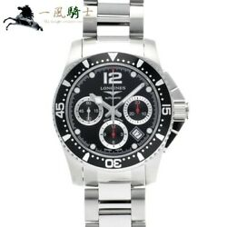 Longines Hydro Conquest Chronograph L3.744.4.56.6 Mens From Japan N0909