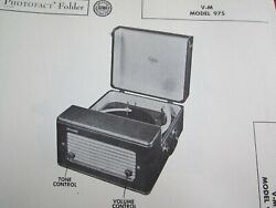 Vm Voice Of Music 975 Phonograph / Record Player Photofact