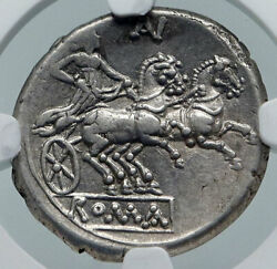 Roman Republic Authentic Ancient 194bc Rome Silver Coin Diana Chariot Ngc I86039