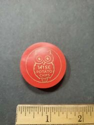 Vntg Wise Potato Chips Snacks Promotional Plastic Resealable Bottle Cap Top 1of8