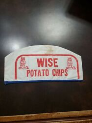 Rare Version 2 Wise Potato Chips Factory Worker Soda Jerk Style Double Sided Hat
