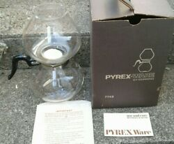 Vintage Pyrex Stove Top Vacuum Coffee Maker Instructions Box 9 Cup - 7748 Box