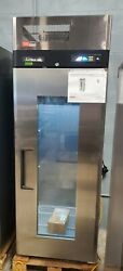 New Turbo Air M3r24-1-g-n 28 3/4 Glass Door Reach In Refrigerator Cooler