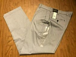 Brooks Brothers Clark Pants Chinos 35 X 30 Nwt Light Blue Flat Front Pants