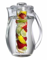 Charmed Tea And Fruit Infusion Pitcher W/ Core Rod - 2.9 Qt Water Pitcher Infuser
