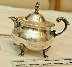 Pot Epca Bristol Silverplate By Poole 110 Silver Pleated