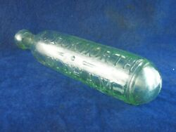 45765 Old Antique Glass Bottle Soda Codd Hamilton Maughan Patent Oldham