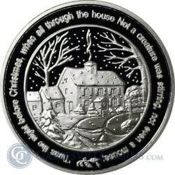 20 - 1 Oz .999 Fine Silver Rounds - Twas The Night Before Christmas - Bu
