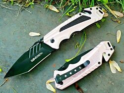 Womenand039s Pink Metal Spring Assisted Pocket Knife Girls Ladies Everyday Carry Tool
