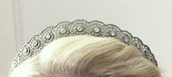 Uncut Real Antique Rose Cut Diamond 13.70ct Wedding Party Amazing Tiara And Crown