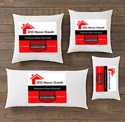 New Pillow Insert Form Square Euro Premium ALL SIZES Made in USA