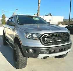 For 2019 - 21 Ford Ranger Raptor Style Matte Black Front Hood Grille Replacement