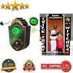 Animated Eyeball Halloween Decor Haunted Doorbell With Spooky Sounds Party Prop