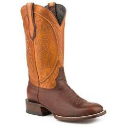 Menand039s Stetson Butte Brown Calf Boots Handcrafted Jbs Collection