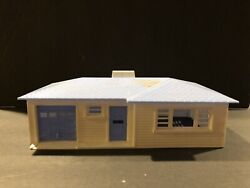 O/s 'scale Plasticville 'blue Ranch House Building For Train Layout No Box