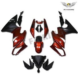 New Fairing Kit Fit For Kawasaki 2009-2011 Er-6f Ninja 650r Ex650 Red Abs Y002a