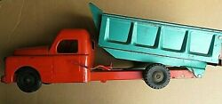 Structo Toys 1950's Dump Truck Hydraulically Operated Pressed Steel