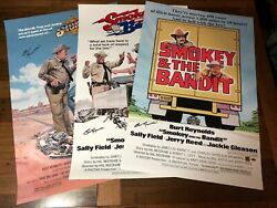 Burt Reynolds Signed Smokey And The Bandit Poster Combo 60x90cm Cert+val+phproof