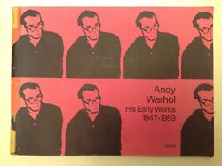 Extremely Scarce 1971 Andy Warhol His Early Works 1947-1959 Ny Gotham Bookmart