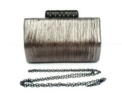 Rhinestones evening clutch evening bag silver evening bag pewter evening bag new $33.00