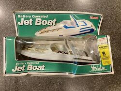 Vintage Jet Boat Lucky Toys Battery Operated Inboard New Boxed Waterline