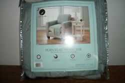 Reversible Armchair Furniture Protector 75 X 65 Blueish Gray Microfiber New