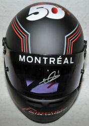 Mario Andretti Signed 2017 Canada Gp 50th Years Of F1 Helmet With Photo Proof