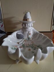 Lenox Occasions Halloween Witch Porcelain Candy Dish - New Come W/ Orginal Box