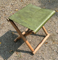Tucker Duck And Rubber Co. Vintage Camping Stool Vinyl Seat Outdoor Furniture