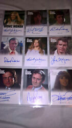 The Complete Bionic Collection Autograph Set Woman Signed Rittenhouse