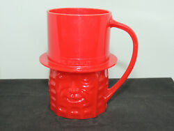 Mr. Peanut Red Plastic Cup Over 3 Inches Tall 16561